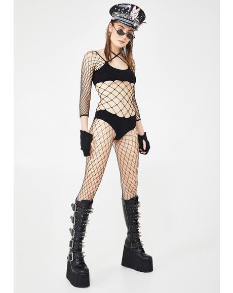 All For Yew Bikini Fishnet Bodystocking