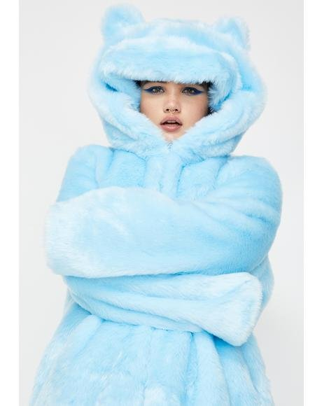 Fierce Polar Babe Faux Fur Coat