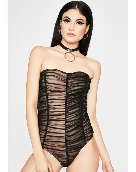 Night Shocking Highs Ruched Bodysuit