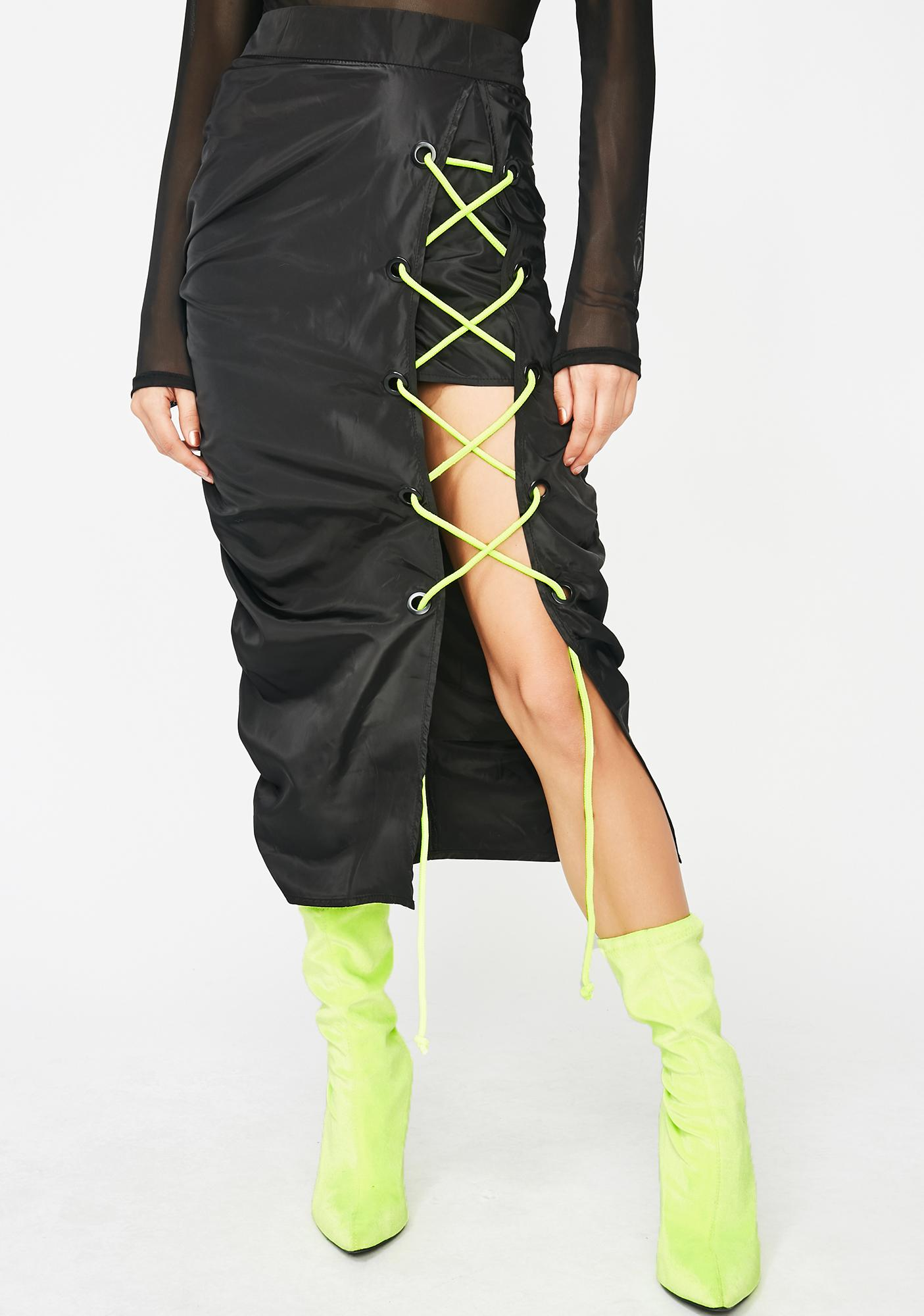 Bullet Proof Lace Up Skirt