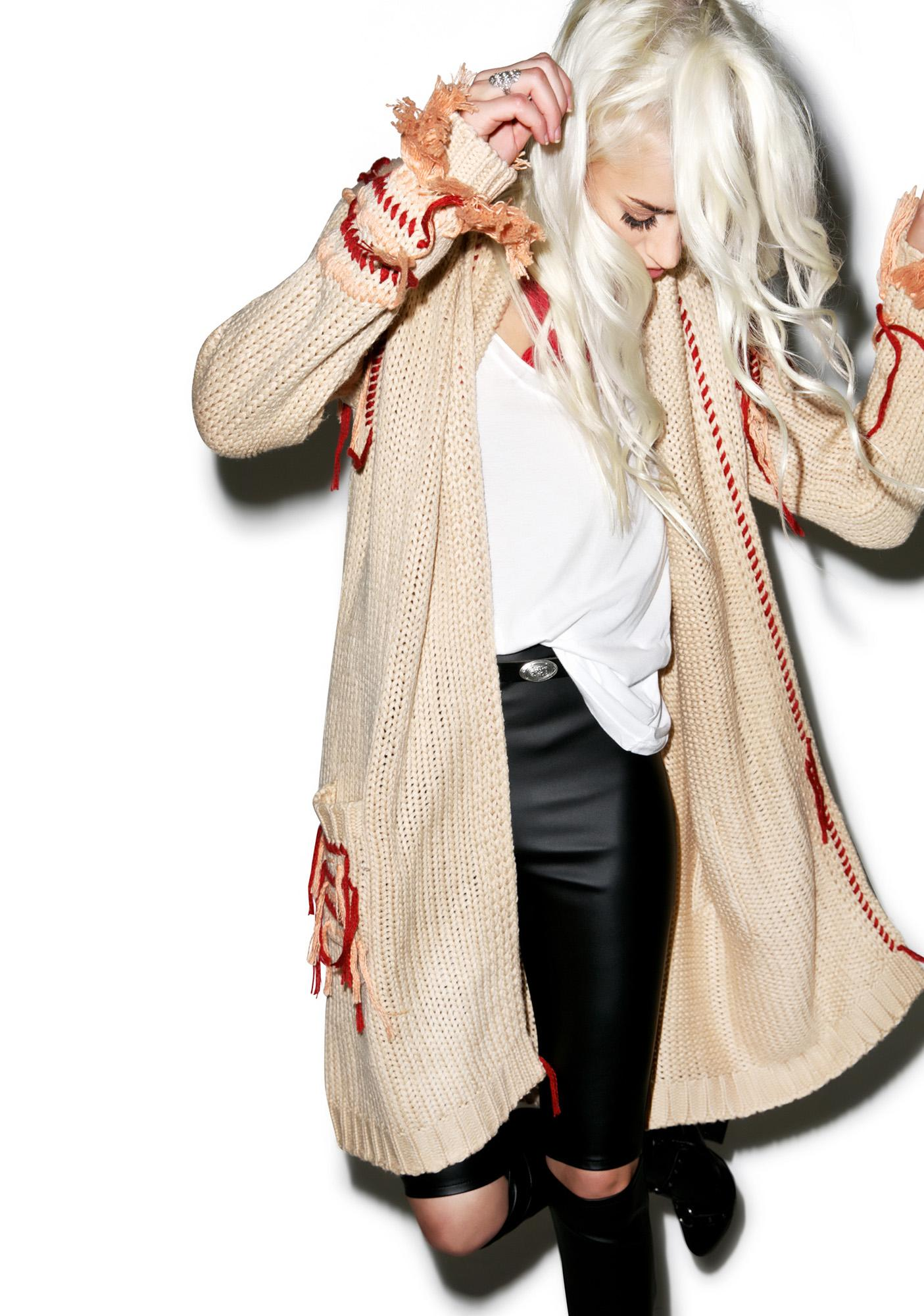 For Love & Lemons Denver Knit Cardigan
