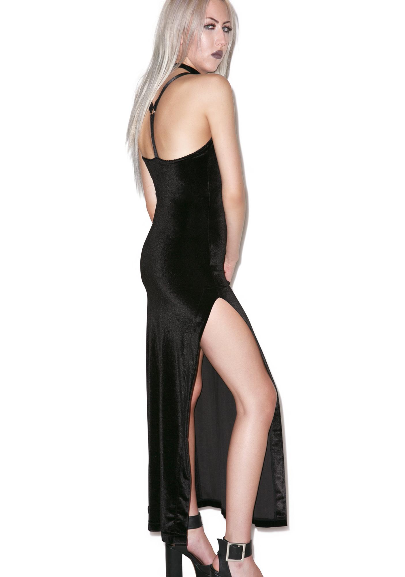Widow Obsidian Velvet Maxi Dress
