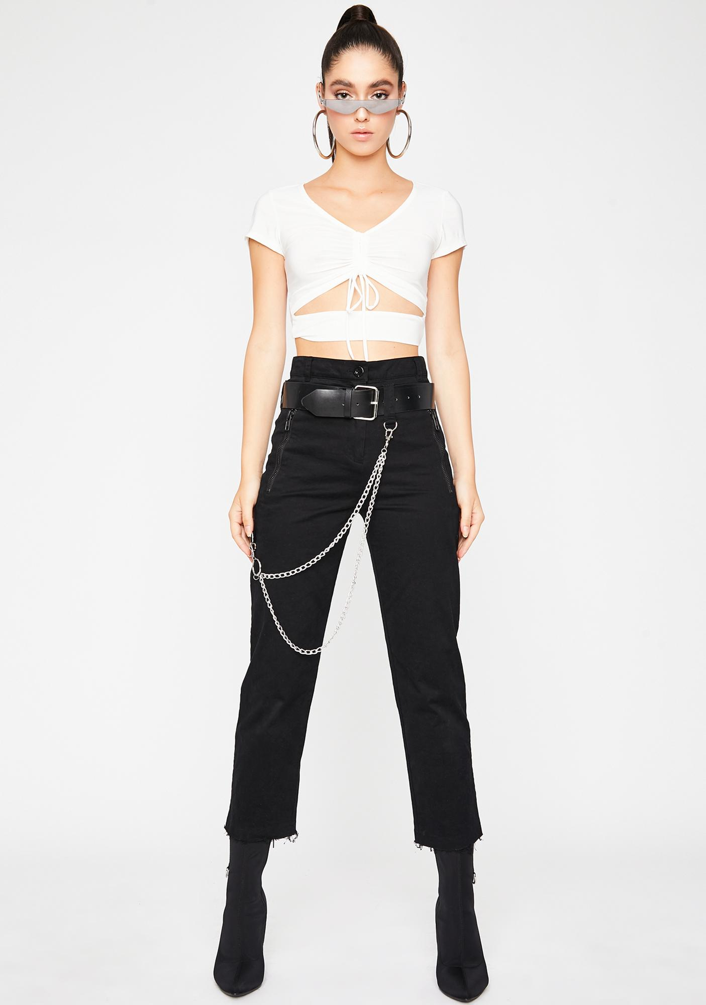 Babelike Behavior Crop Top