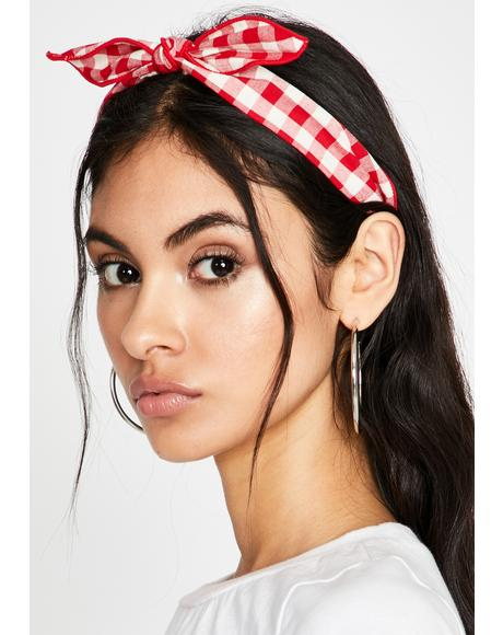 Scarlet Miss Innocent Plaid Headband