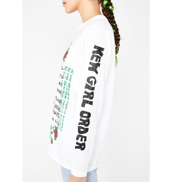 NEW GIRL ORDER It's Cool To Be Cute Slogan Long Sleeve Top