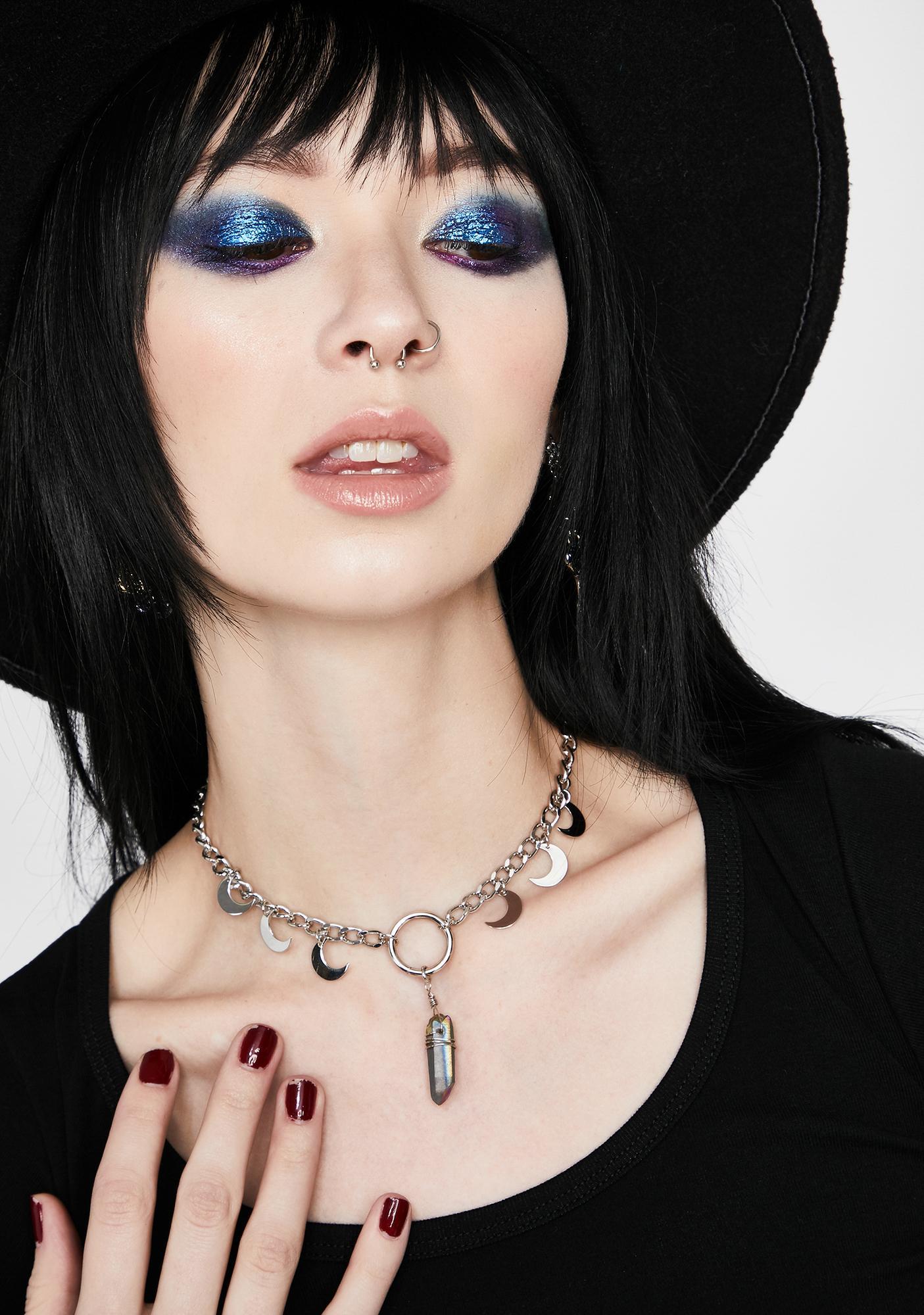 Lunar Shadow Crystal Necklace