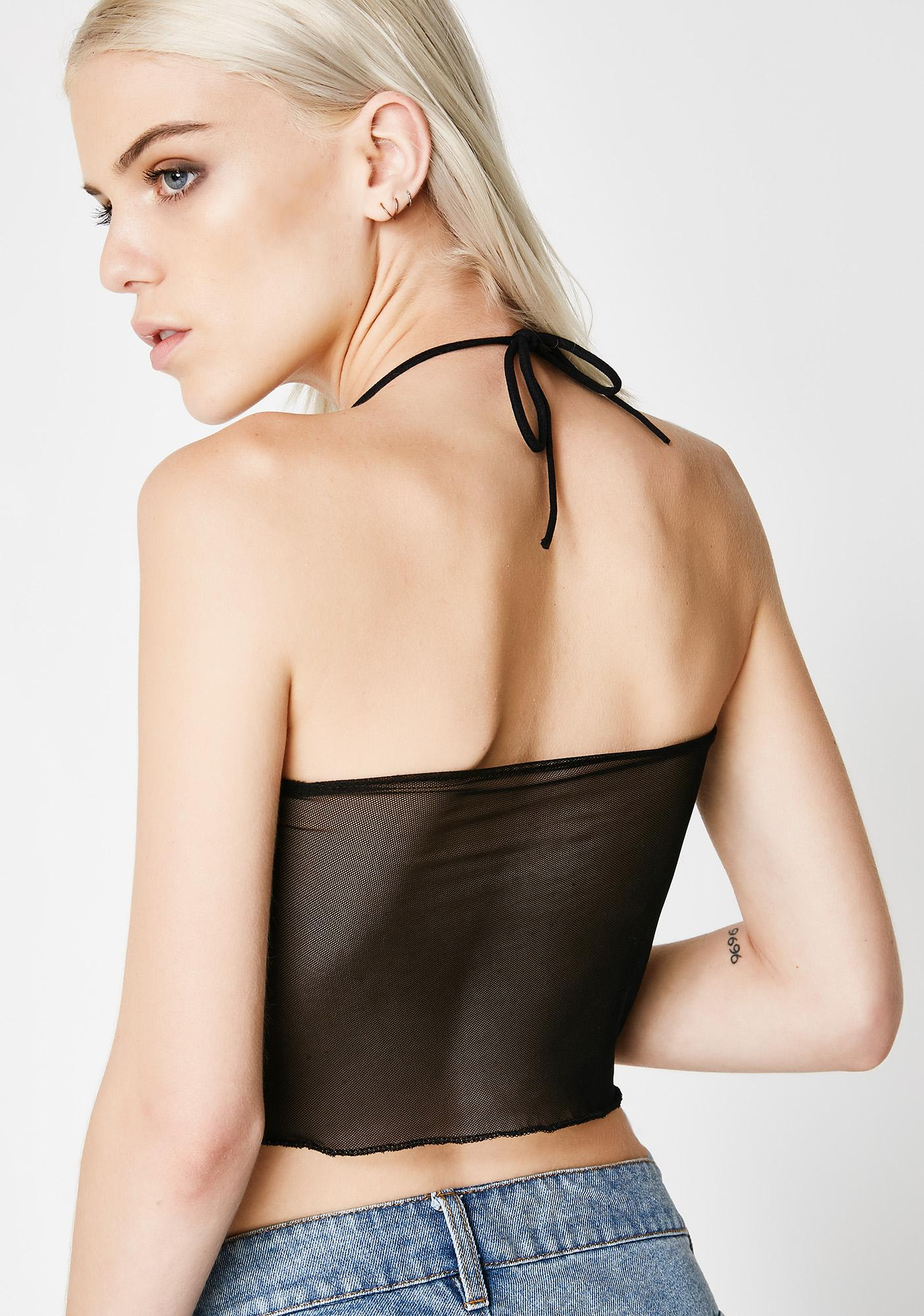 Plugged NYC Mesh Halter Top