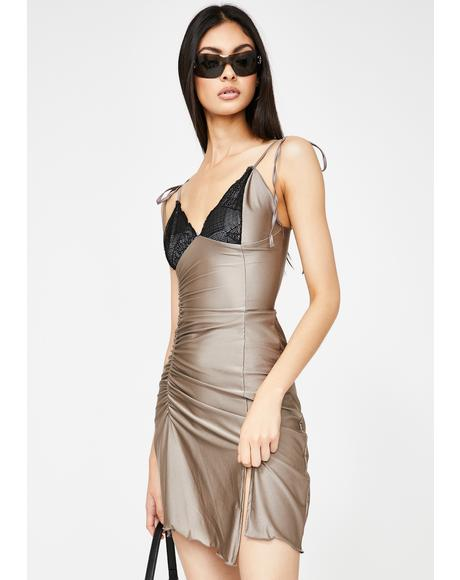 Taupe Spider Dress