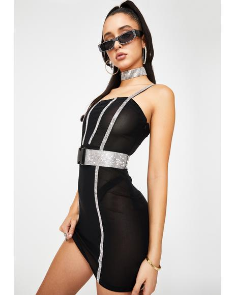 Saturday Night Diva Rhinestone Dress