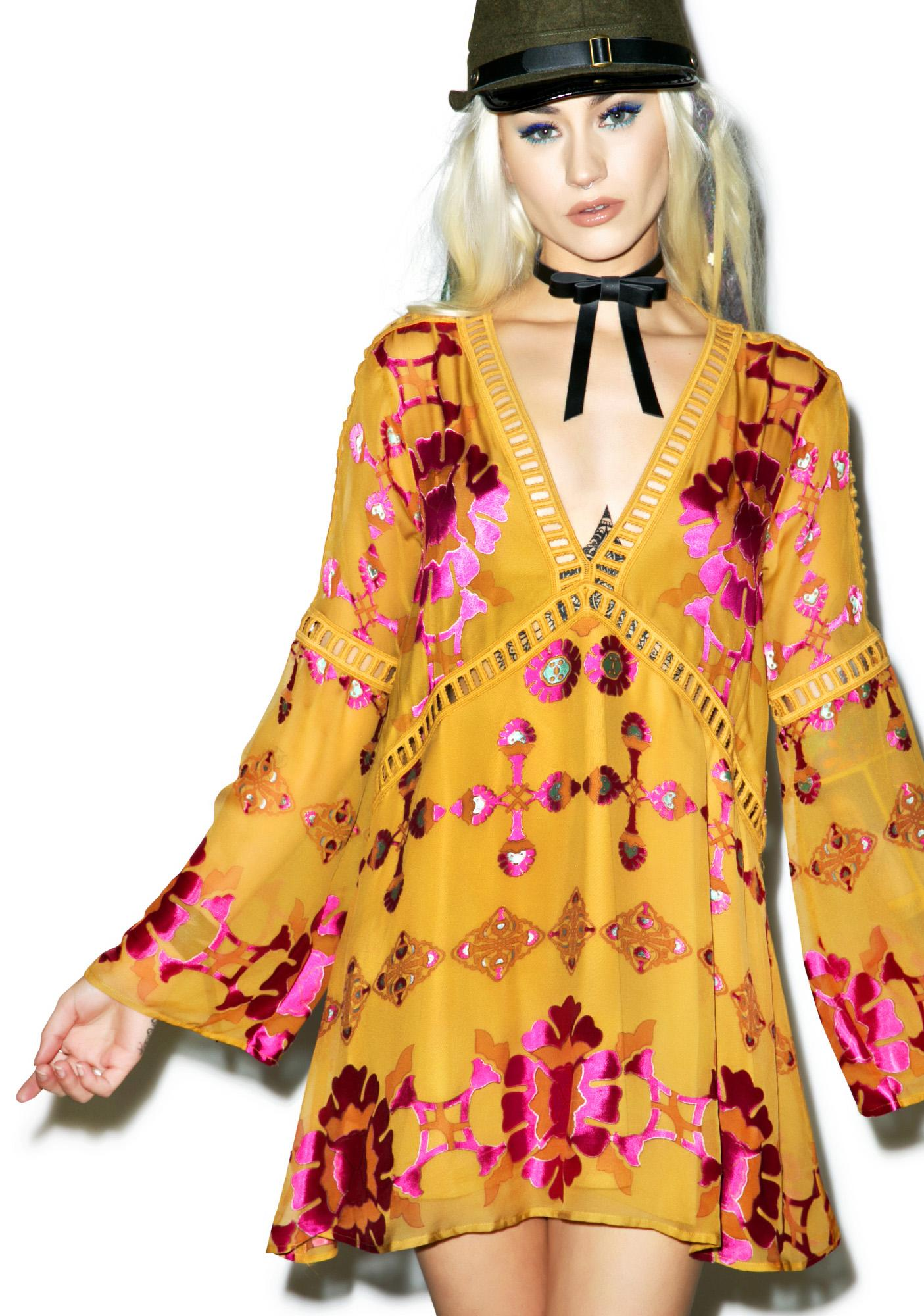 For Love & Lemons Barcelona Mini Dress