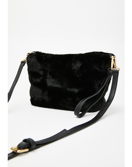 Too Damn Glam Fuzzy Handbag