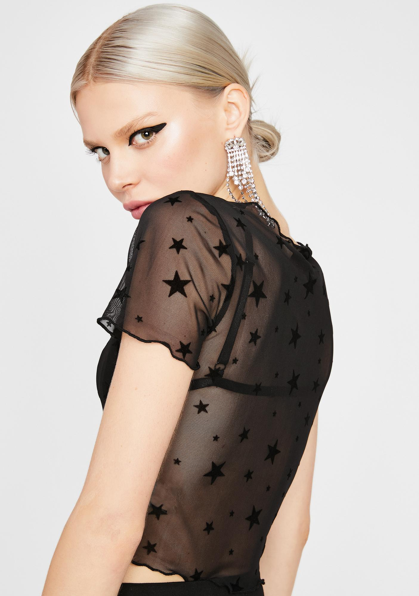 Star Role Sheer Top