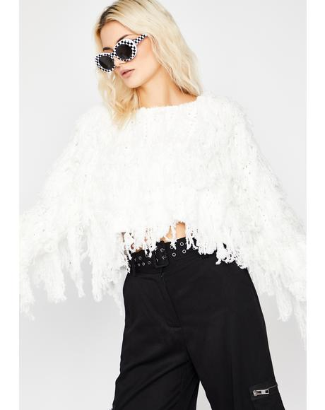 Shag Me Good Fringe Sweater