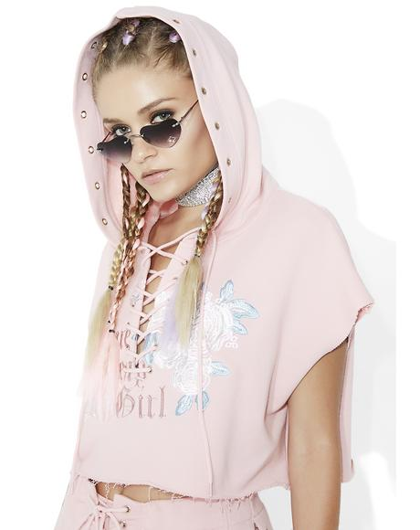 Time Leap Girl Cropped Hoodie