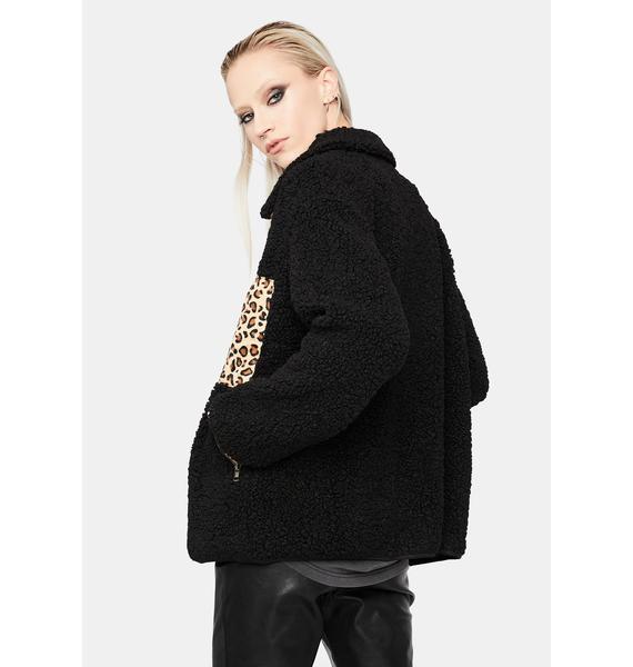 Wild Chase Teddy Leopard Jacket