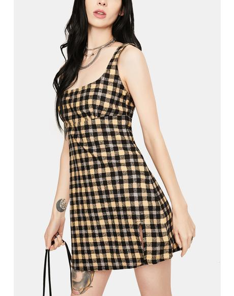 90s Grunge Mehra Mini Dress
