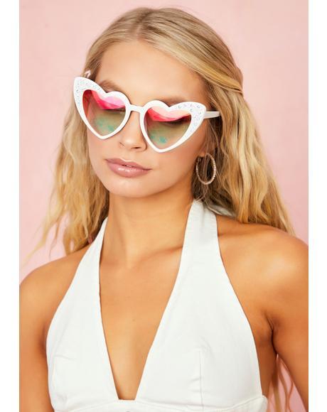 Femme Doll Heart Sunglasses