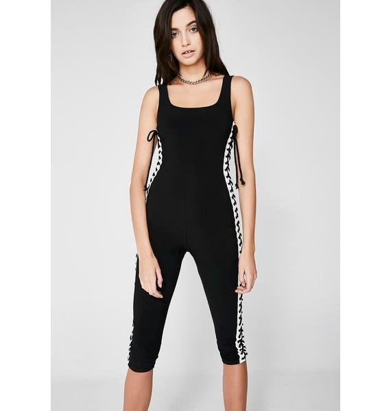 End Goal Lace-Up Catsuit