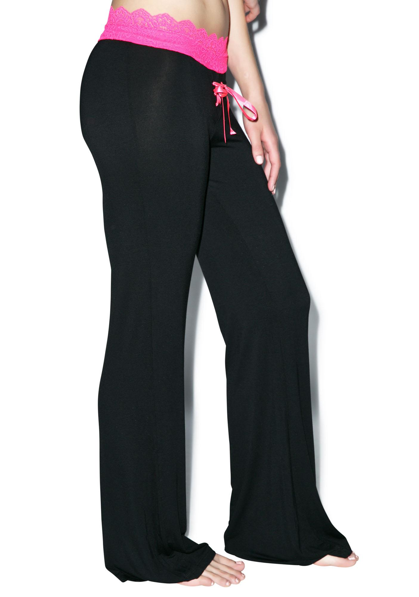Oh, You Fancy Lace Trim Lounge Pants