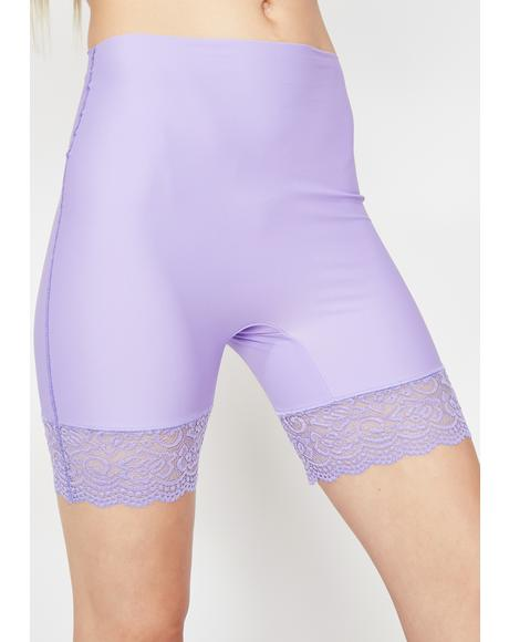 Violet Romantic Heat Biker Shorts