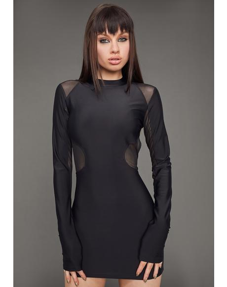 Model Misbehavior Cut-Out Dress