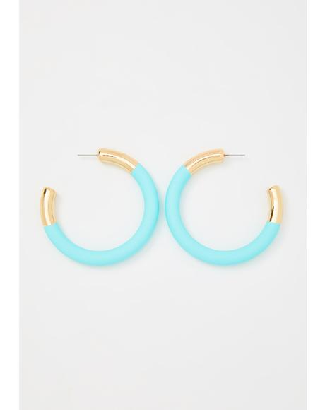 Hang In There Hoop Earrings