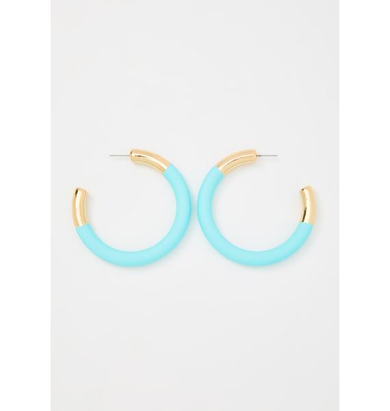 Hang In There Hoop Earrings