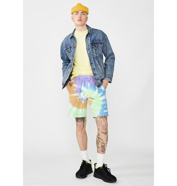 RIPNDIP Peek A Nermal Tie Dye Sweat Shorts