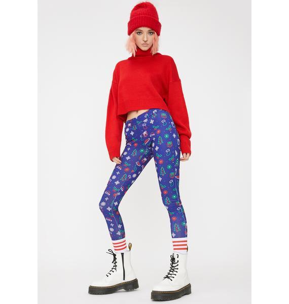 Tipsy Elves Neon Christmas Printed Leggings