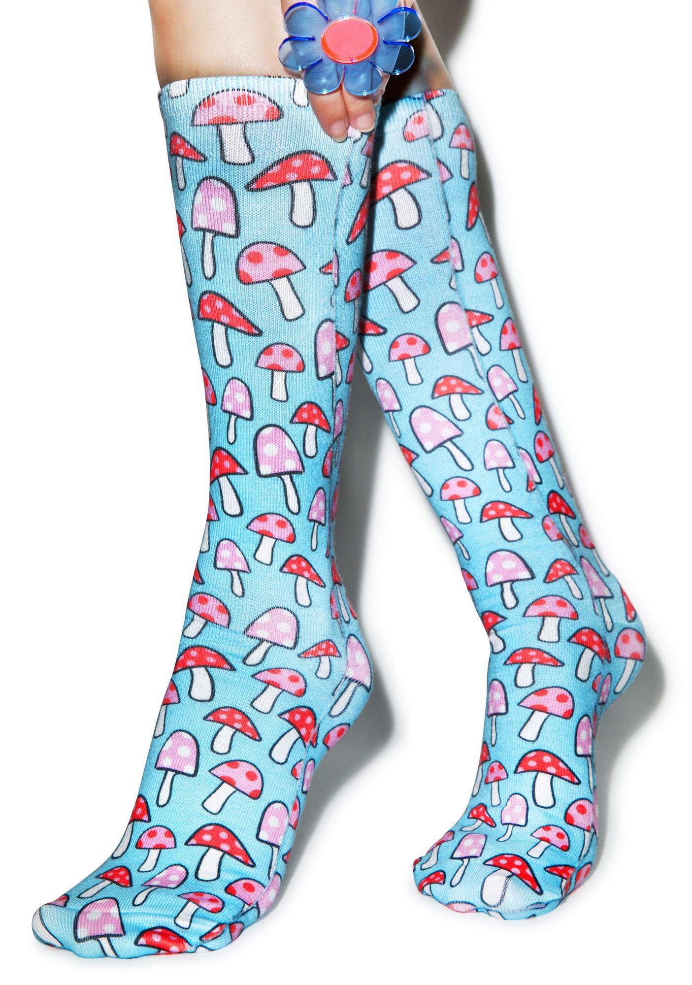 Shroomy Knee High Socks