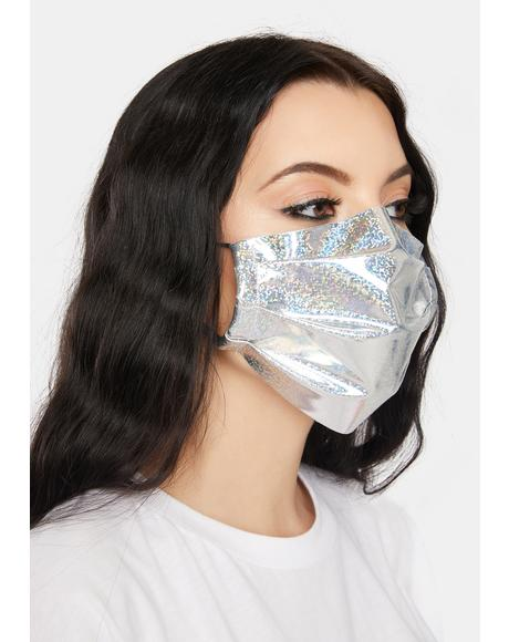 Holographic Sparkle Face Mask