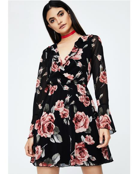 Bloomin' Garden Ruffle Dress