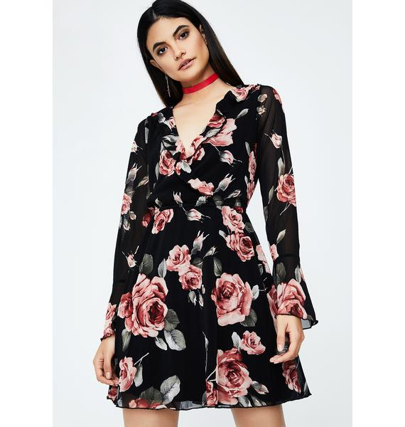 Bloomin' Garden Ruffle Dress
