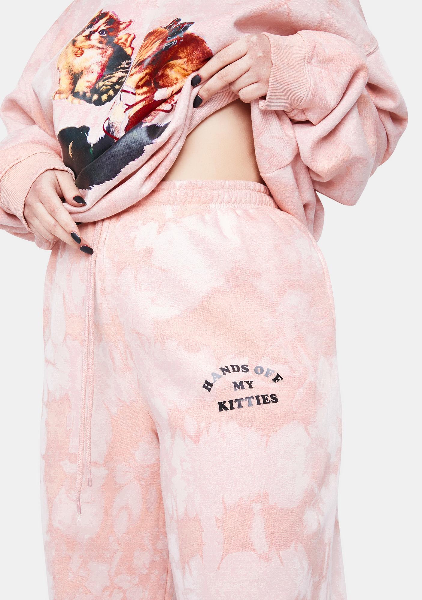 NEW GIRL ORDER Curve Kitten Peach Tie Dye Joggers