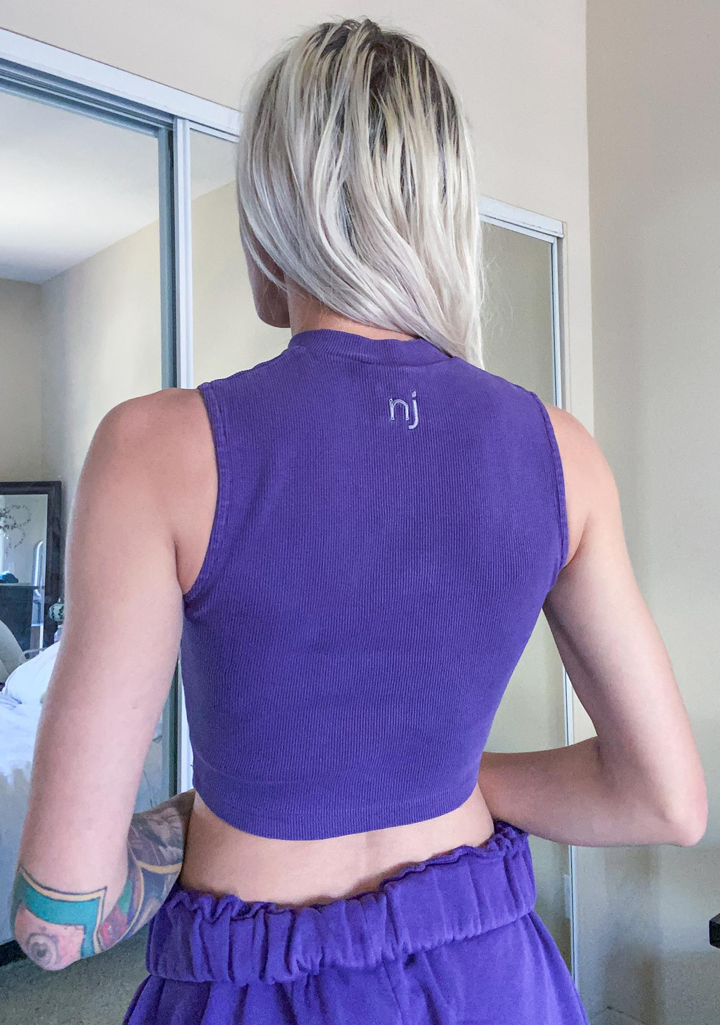 Nana Judy Violet Authentic Ribbed Crop Top