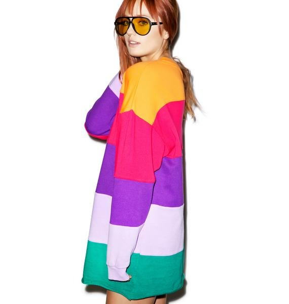 Lazy Oaf Rainbow Stripe Sweater