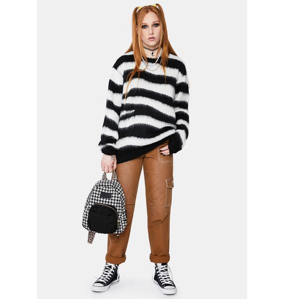Obey Striped Dream Crewneck Sweater