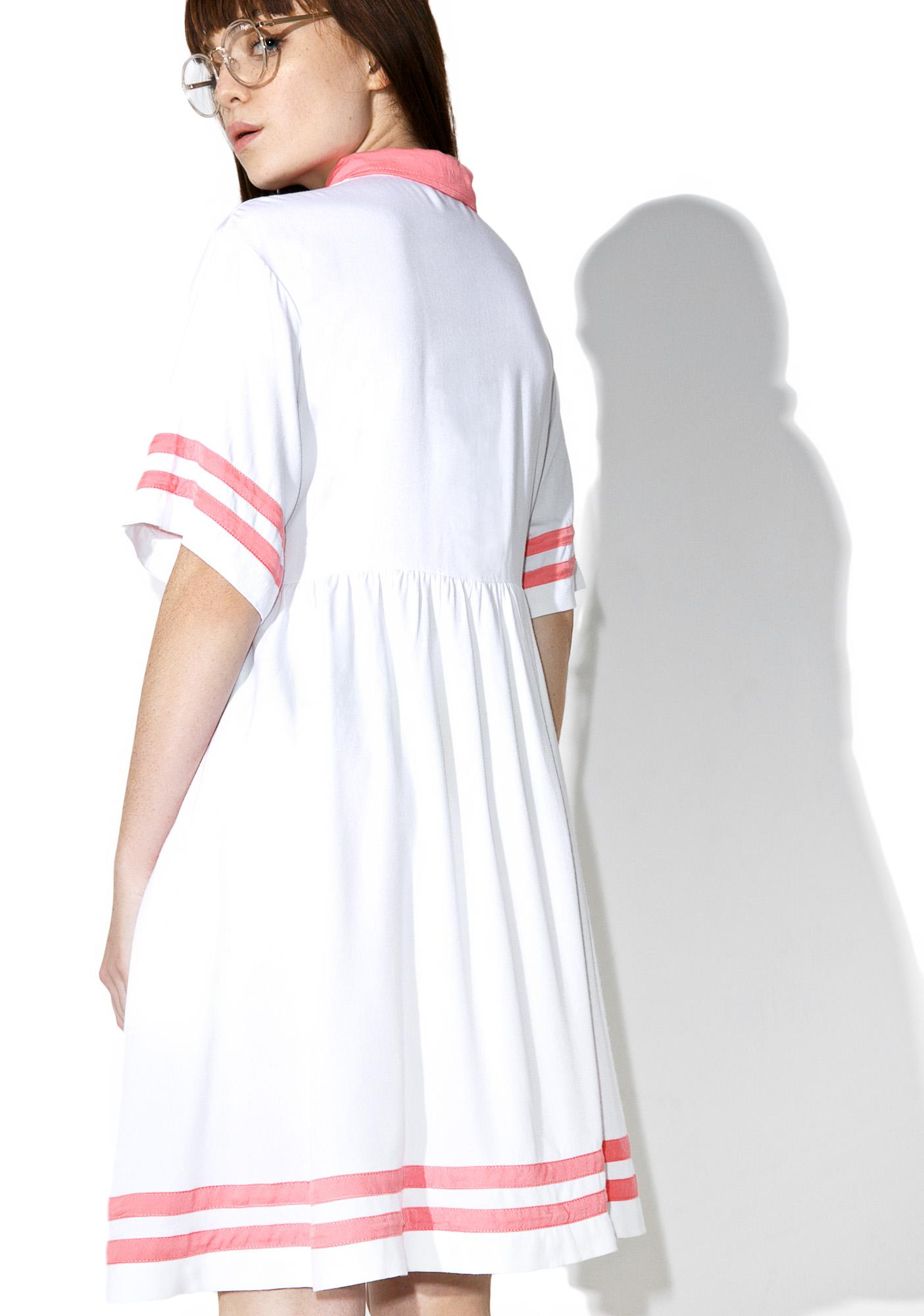 Lazy Oaf White Cherry Dress
