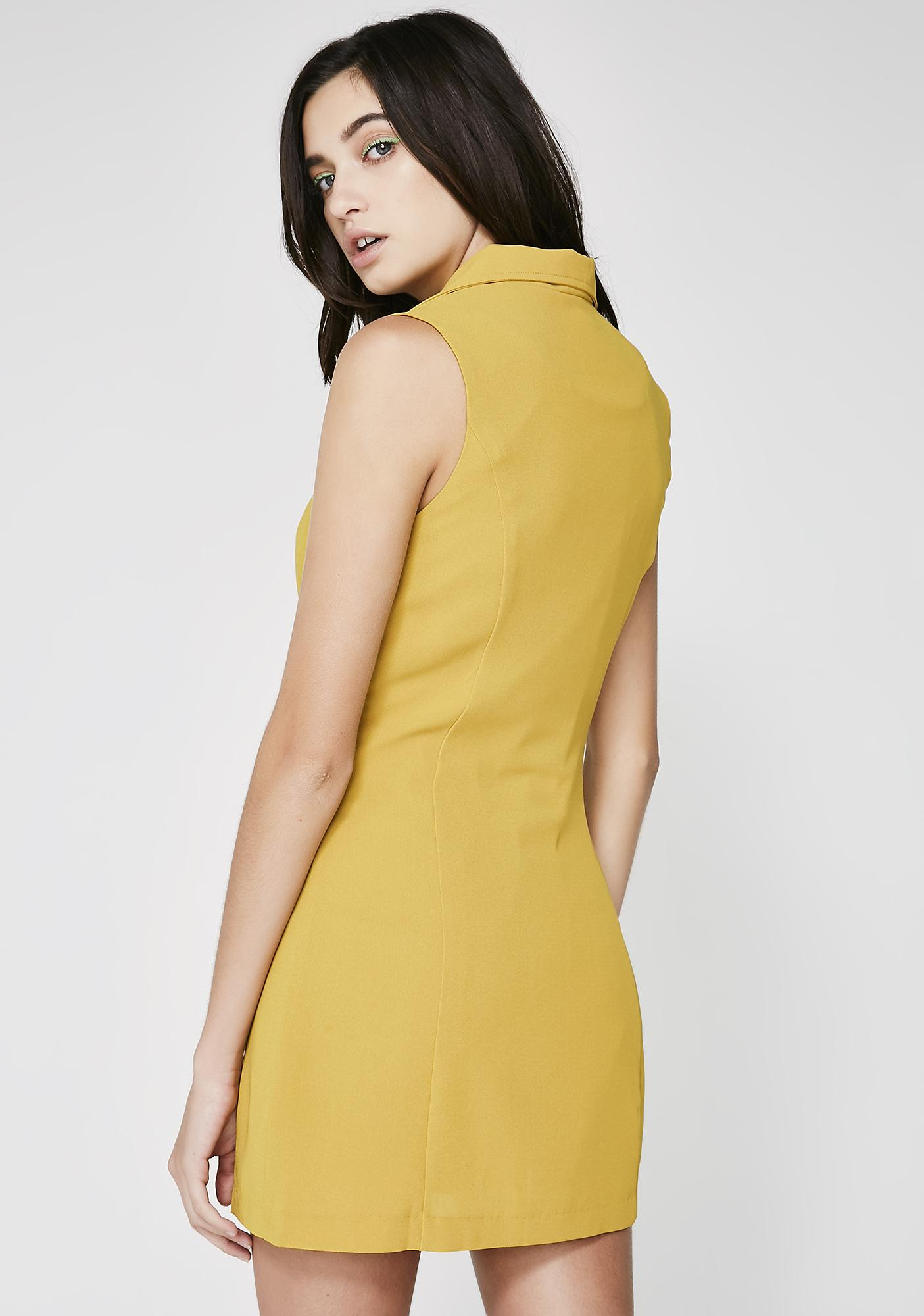 Letz Talk Bizness Notch Dress