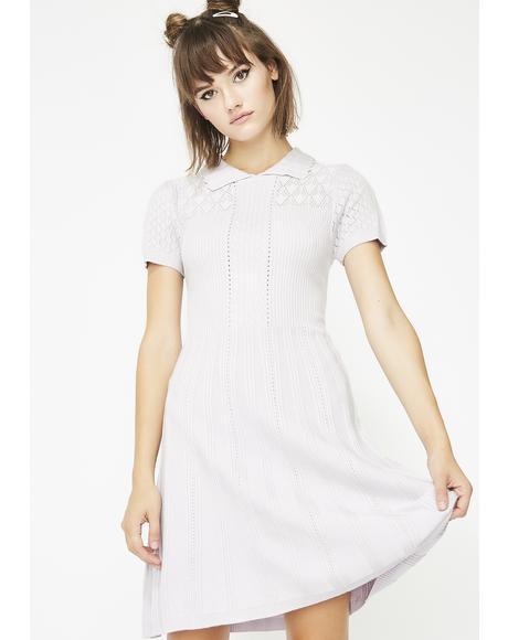 Sweet Babydoll Sweater Dress