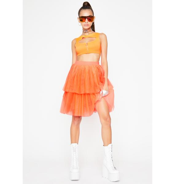 Vibrant Princess Vibes Tulle Skirt