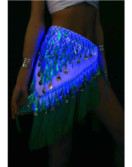 Fiber Optic Light Up Hip Scarf