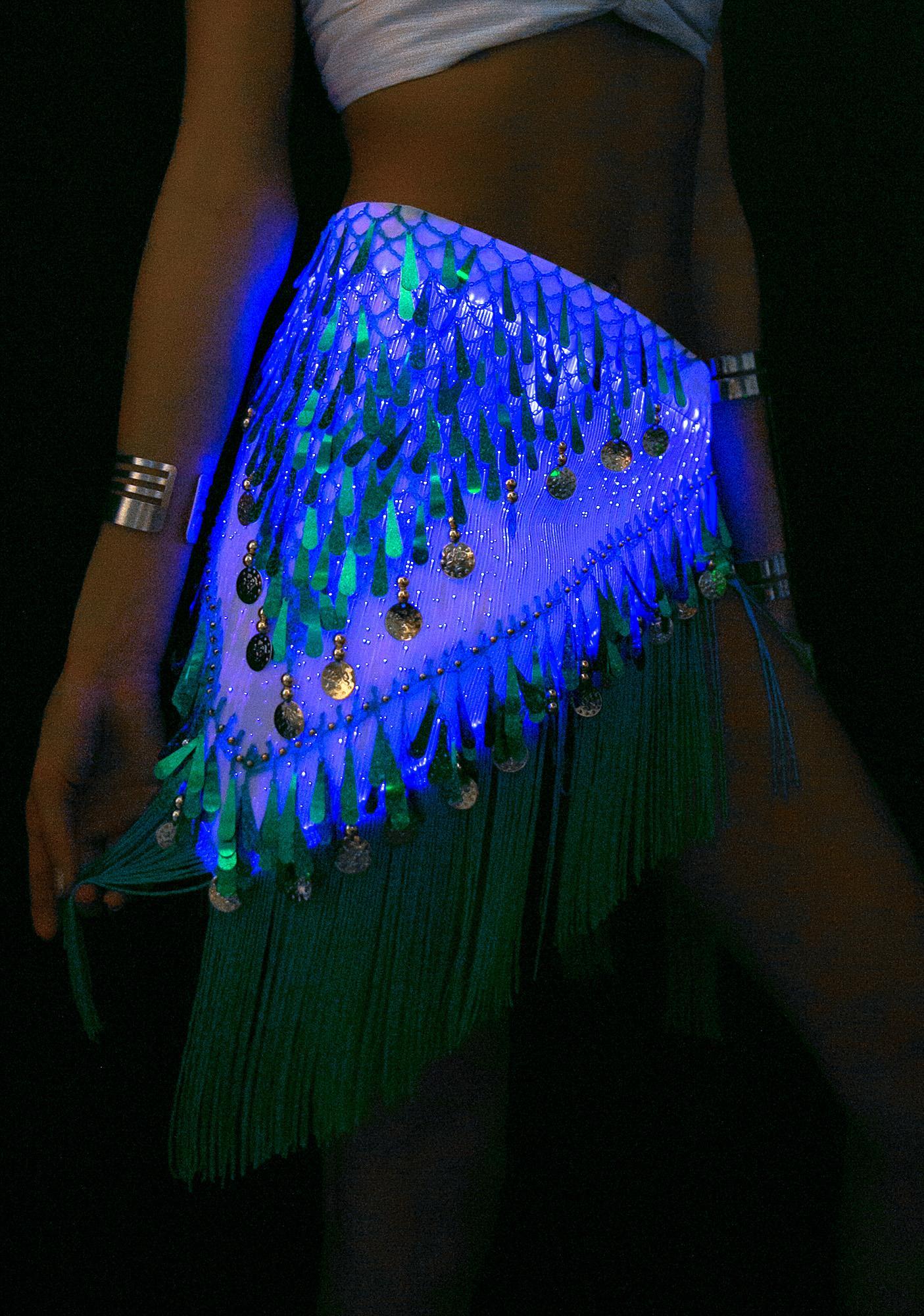 Rave Nation Fiber Optic Light Up Hip Scarf