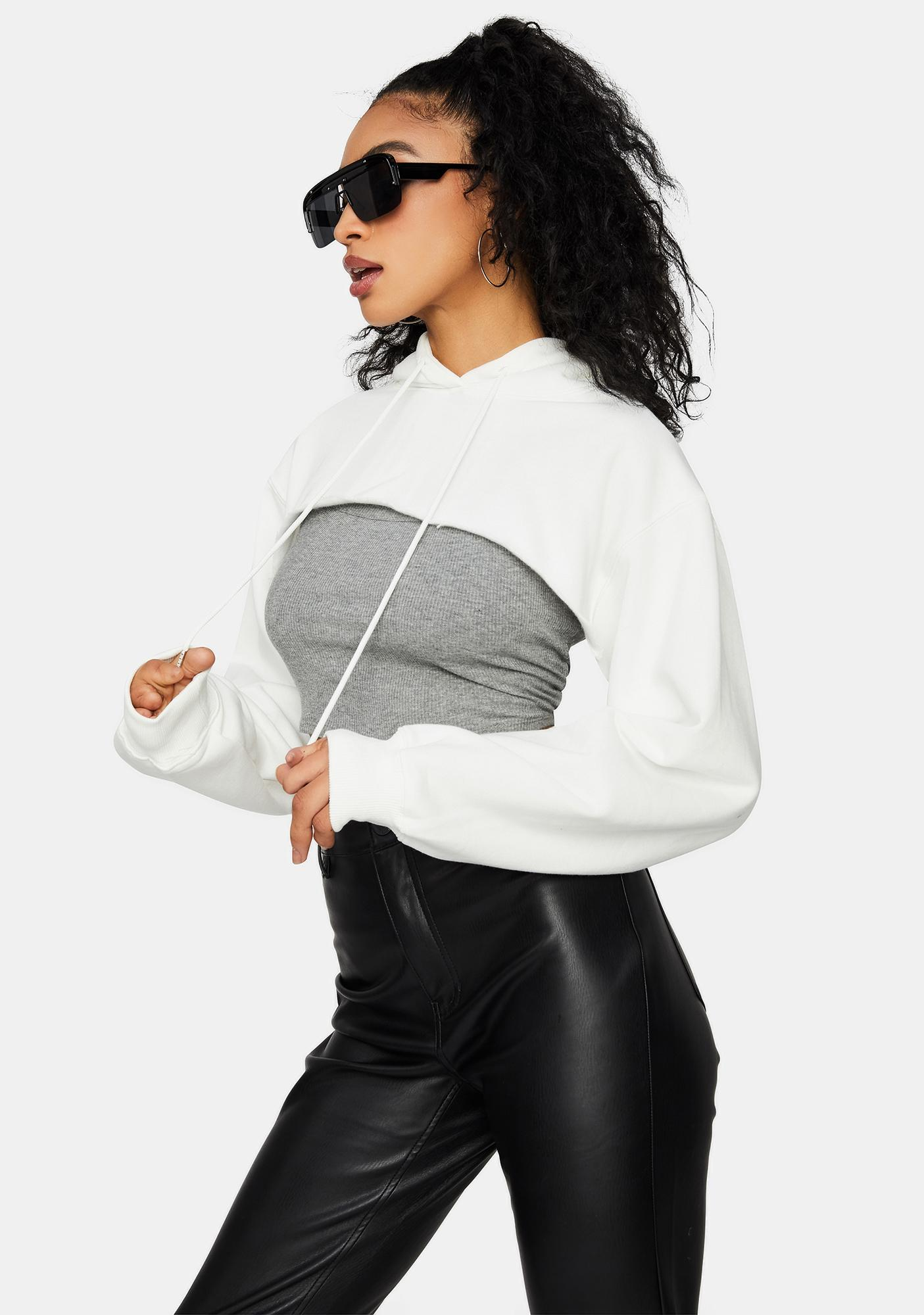 Icy Moon Whispers Crop Top