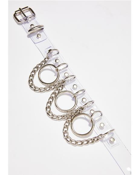 Kept Chained Up Clear Choker
