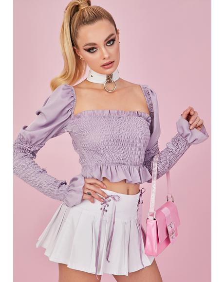 Flirt Back Puff Sleeve Top