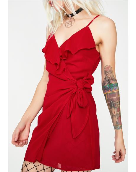Wrap It Up Mini Dress