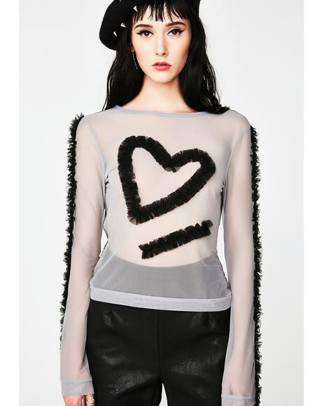 Sheer Heart Frills Top