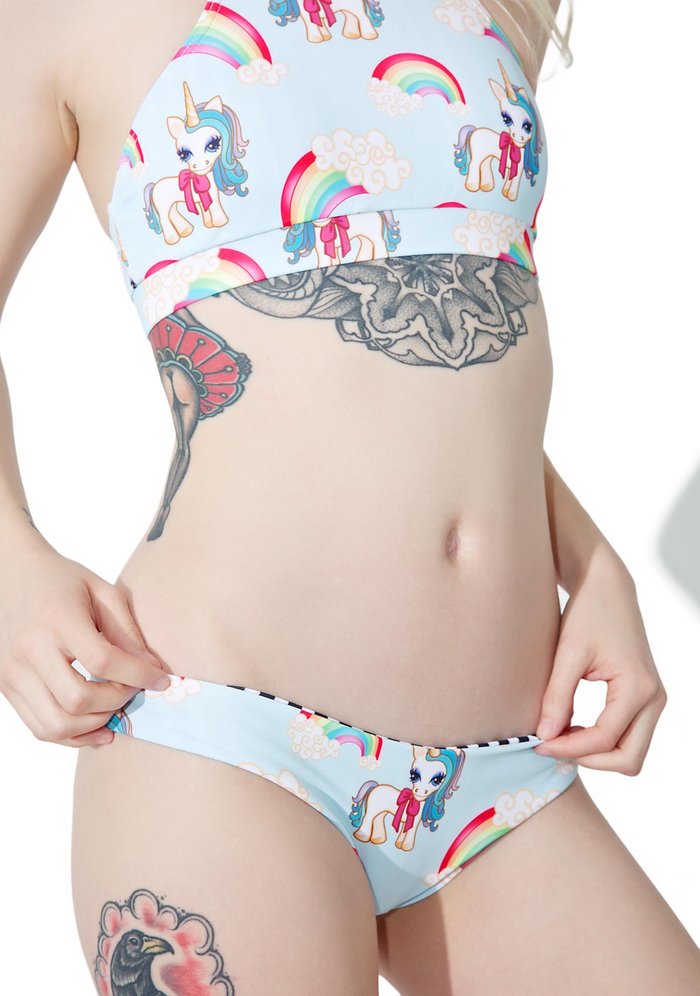 Kulani Kinis Unicorn Cheeky Bikini Bottoms