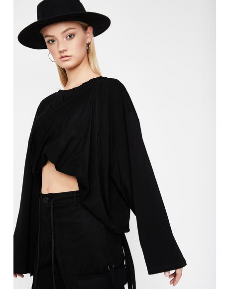 Draped In Drama Wrap Top